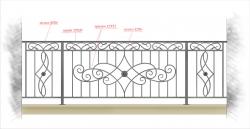 Кованое балконное ограждение 1