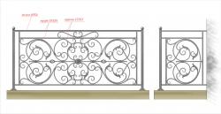 Кованое балконное ограждение 2