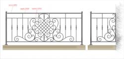 Кованое балконное ограждение 3