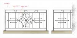 Кованое балконное ограждение 5