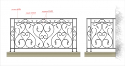 Кованое балконное ограждение 7