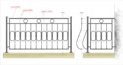 Кованое балконное ограждение 11