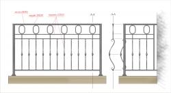 Кованое балконное ограждение 12