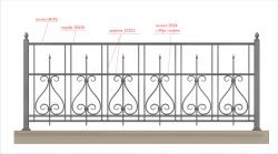 Кованое балконное ограждение 15