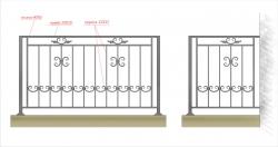 Кованое балконное ограждение 17