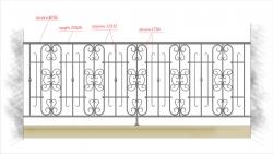 Кованое балконное ограждение 18