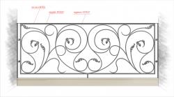 Кованое балконное ограждение 26