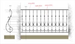 Кованое балконное ограждение 27
