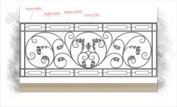 Кованое балконное ограждение 29