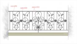 Кованое балконное ограждение 30