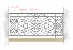Кованое балконное ограждение 31
