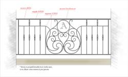 Кованое балконное ограждение 32