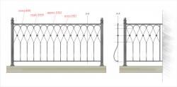 Кованое балконное ограждение 33