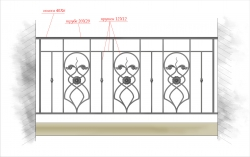 Кованое балконное ограждение 35
