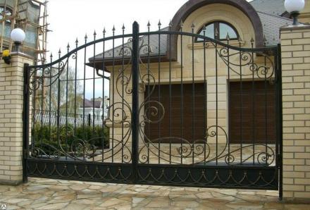 кованые ворота прозрачные