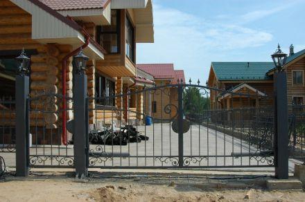 Кованные ворота с калиткой, г. Конаково
