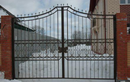 Ворота для дачи кованые