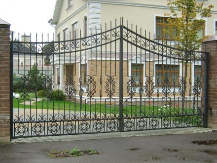 кованые ворота без листа