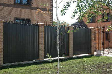 кованые навершия на забор из профлиста