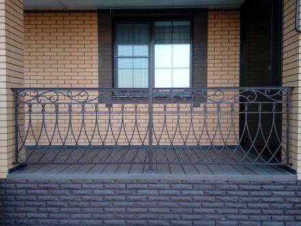 Кованый забор для балкона