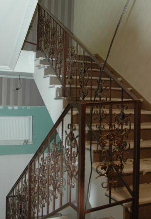 Перила кованые для лестницы г. Москва, офис на ул. Пехотная