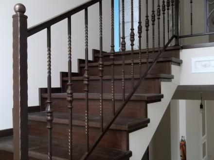 Простой рисунок с поковками для кованой лестницы
