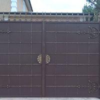 кованые ворота с использованием лазерной резки