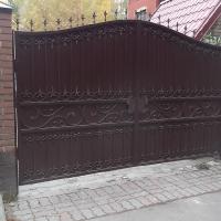 кованые ворота глухие