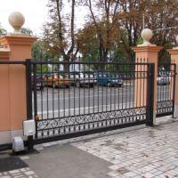 Кованые ворота с калиткой