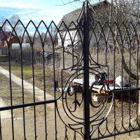 ворота с инициалами
