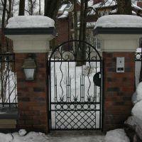Кованые забор с калиткой
