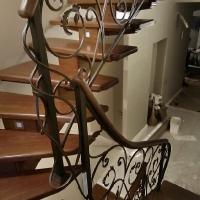 рисунок в сложной траектории лестницы