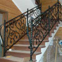 Кованые перила для лестниц фото