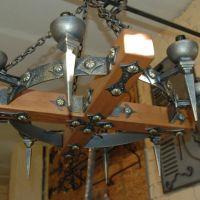 Кованая люстра с 6 лампочками