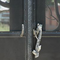 Кованый дверной засов